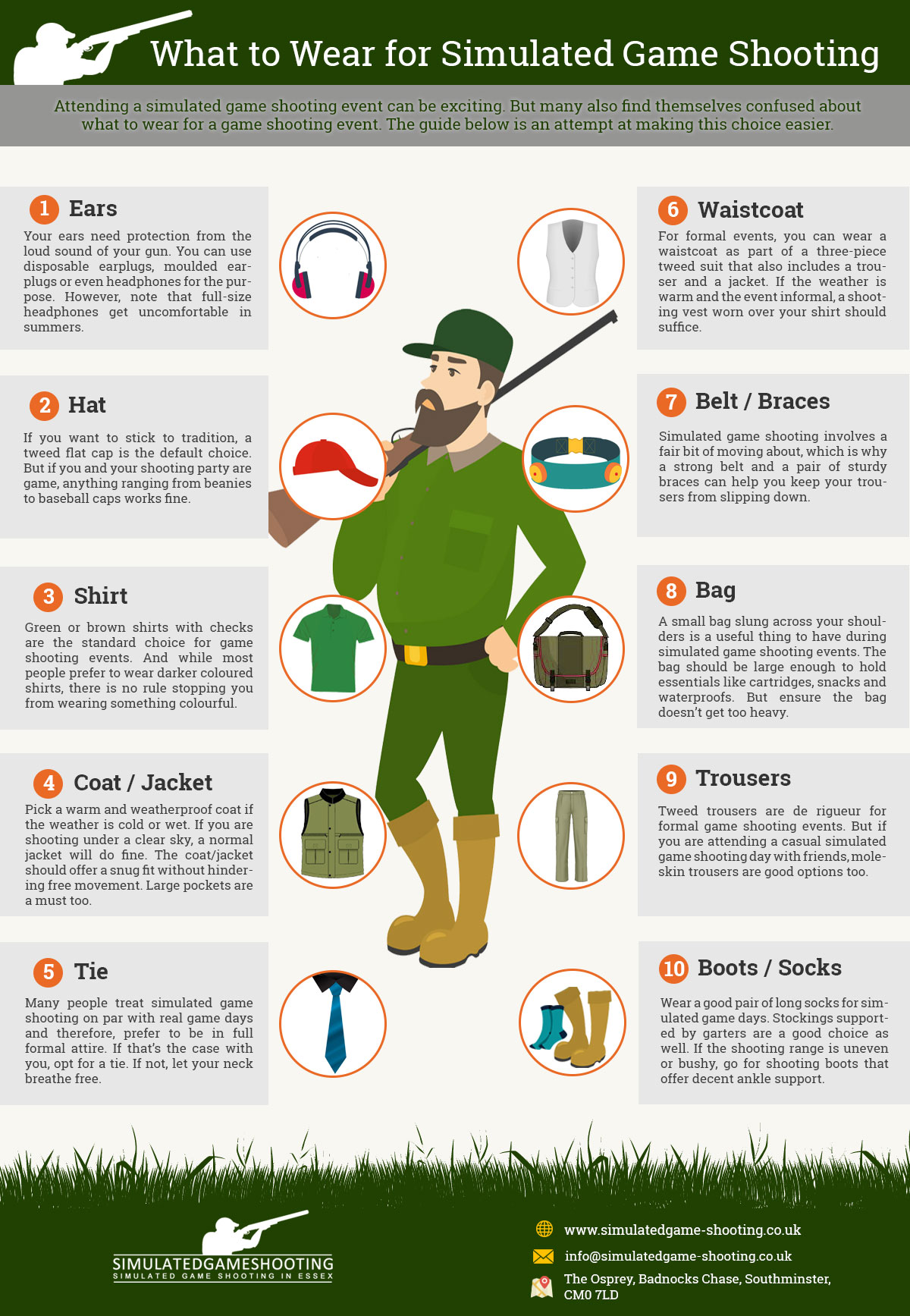 What to Wear for Simulated Game Shooting